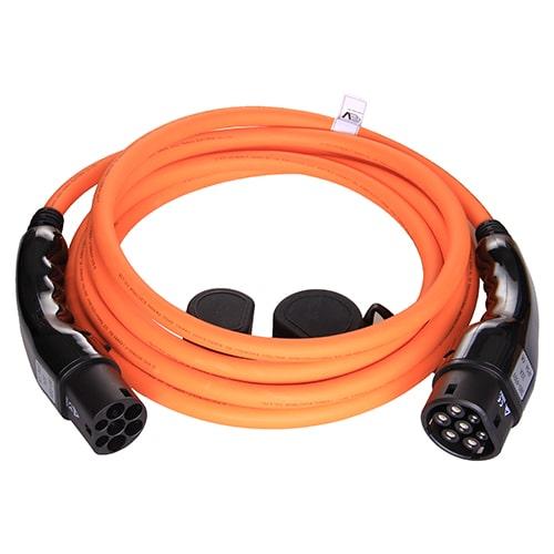 1-EV Type2 -> Type2 orange (3x32A) EV Ladekabel